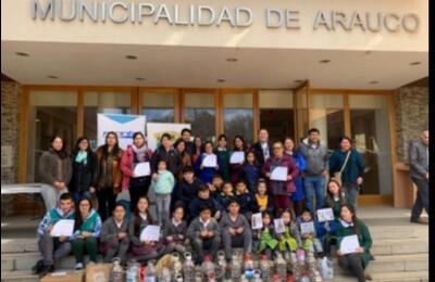 Frontel apoyó campaña de recolección de pilas impulsada por la Municipalidad de Arauco