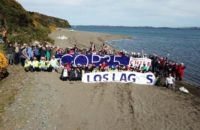 Saesa se sumó al Día Internacional de Limpieza de Playas en Quinchao