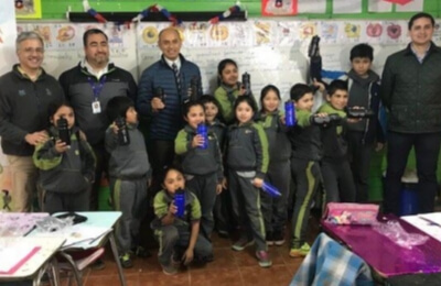 Escuela rural de Gorbea ganó concurso de eficiencia energética.