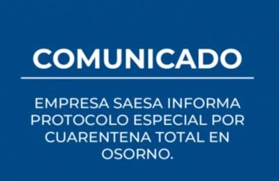Ante anuncio de cuarentena total para Osorno por Coronavirus