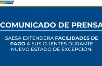 Saesa extenderá facilidades de pago a sus clientes