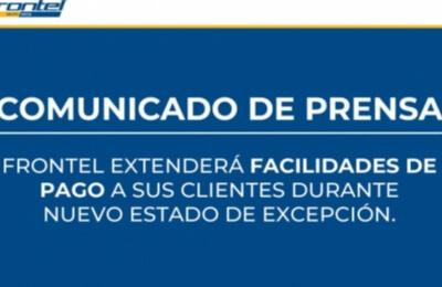 Frontel extenderá facilidades de pago a sus clientes