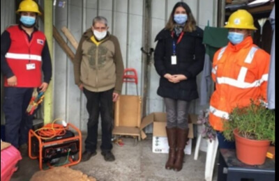Saesa continúa con entrega de grupos generadores a pacientes electrodependientes de Chiloé