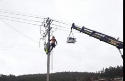 Frontel construye nueva línea eléctrica Los Sauces – Purén