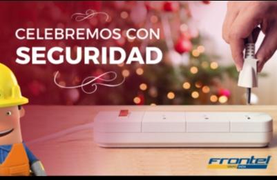 Empresa Frontel realiza llamado a celebrar con seguridad fiestas de fin de año