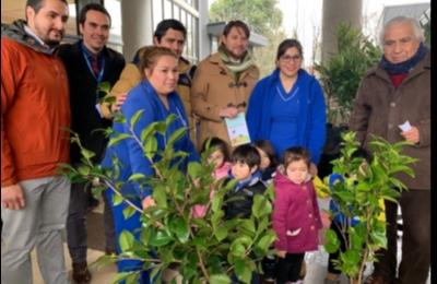 """Frontel se suma a """"Día del Árbol"""" con  donación de 260 árboles a la comuna de Bulnes."""