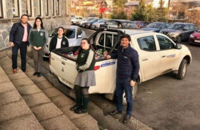 Saesa retira 500 kg de pilas reunidas por estudiantes del Liceo Bosque Nativo de Pto. Montt